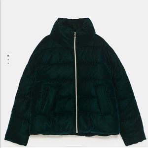 Zara Women's Velvet Padded Jacket